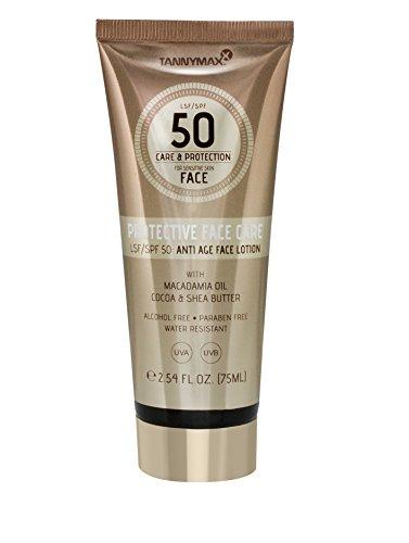 Tannymaxx Anti Age Protective Face Care SPF 50 für sensible Gesichtshaut mit Shea Butter und Macadamia Öl / intensiv pflegende Gesichtslotion