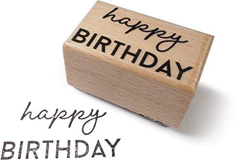 TYSK Design Stempel Happy Birthday (Motiv wählbar) Holzstempel, Motivstempel (Einladung, Geburtstag, Kindergeburtstag) (Happy Birthday Lehrer)