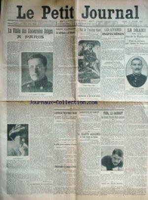 PETIT JOURNAL (LE) [No 193] du 12/07/1910 - LE DRAME DE LA RUE DE LA HUCHETTE - LE GARCE CHARLES ALLEGRE - LES AFFAIRES MAROCAINES - M.REGNAULT - ABD-EL-AZIZ EN FRANCE - L'ETAT DE L'AVIATEUR KINET - VISITE DES SOUVERAINS BELGES A PARIS - LAMARQUE LE BANDIT - LA FILLETTE ASSASSINEE DE SAINT-VINCENT-DE-TYROSSE - MME MARIA LABILLE - LA VEUVE LAFFITE - LE PLUS SENATEUR D'ITALIE LE COMTE DE SALEMI - M. LEON Y CASTILLO A PARIS - RAID DE SOUS-MARIN - FRIOL - LE GAGANT DU GRANS PRIX
