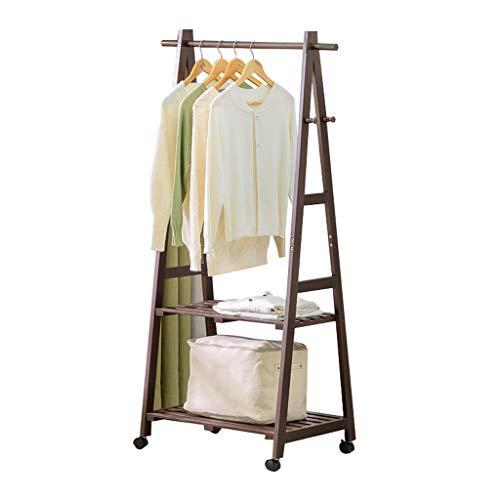 JTWJ Portemanteau en Bois Massif Plancher Simple Cintre Chambre Salon en Bois Porte-vêtements Rack de Stockage pour Enfants (Taille : 100cm×45cm×149cm)