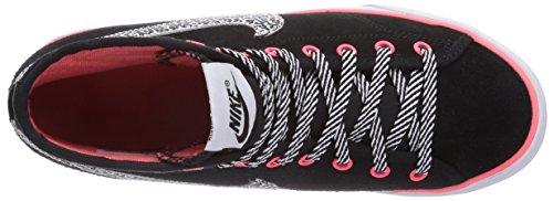 Nike Primo Court Mid Suede, Baskets mode fille Noir (Black/White-Hyper Punch)