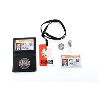 Agent of S.h.i.e.l.d. Schildabzeichen im Lederhalter Phil Coulson's 2 Karten mit Freimünze