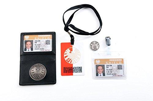 Agents of S.H.I.E.L.D Shield Badge in Leder Halter Phil Coulson 's 2Karten mit gratis (Banner Bruce Kostüm)