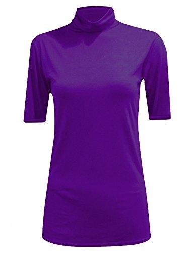 Generic -  T-shirt - Camicia - Maniche corte  - Donna Purple