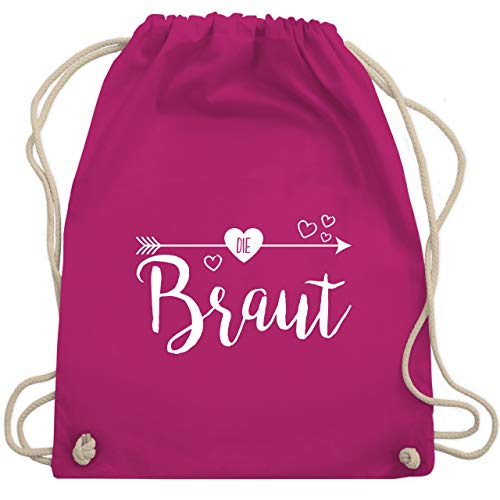 bschied - Die Braut - Unisize - Fuchsia - WM110 - Turnbeutel & Gym Bag ()
