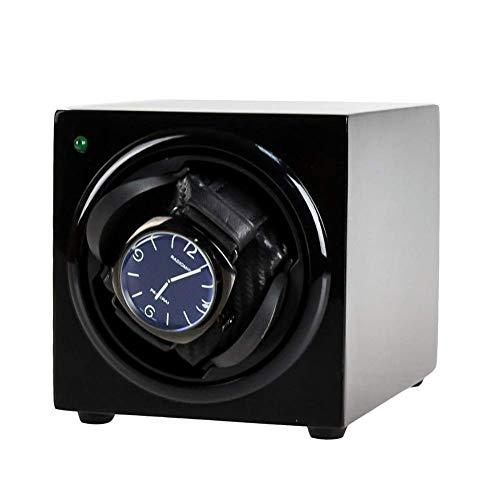 KYCD Uhrenbeweger für Automatikuhren, Uhrenboxen, Batterie- oder Wechselstromadapter,Schwarz