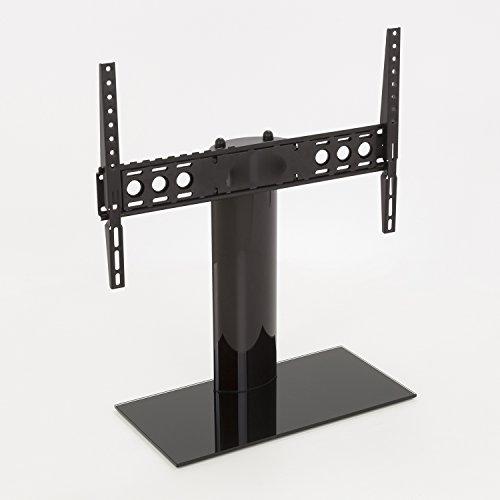"""King Pied de support en Verre pour écran plat/LCD/LED/plasma TV 12""""-65"""" pouces, VESA 600x400mm, support mural, noir, max. 45kg"""