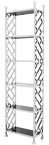 Casa Padrino Designer Regalschrank Silber 65 x 32 x H. 230 cm - Luxus Qualität