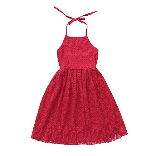 Kleider Kinderbekleidung Honestyi Kind Kind Mädchen Spitze Blume -