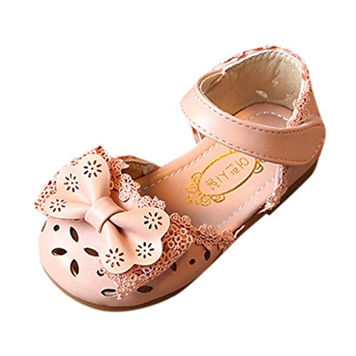 Baby Mädchen Weiche Sohle Sandalen rutschfeste Kleid Hochzeit Krippe Schuhe,OSYARD 0-6 Jahre Kinderschuhe Halbsandalen mit Riemchen - Klassische Krippe Schuhe