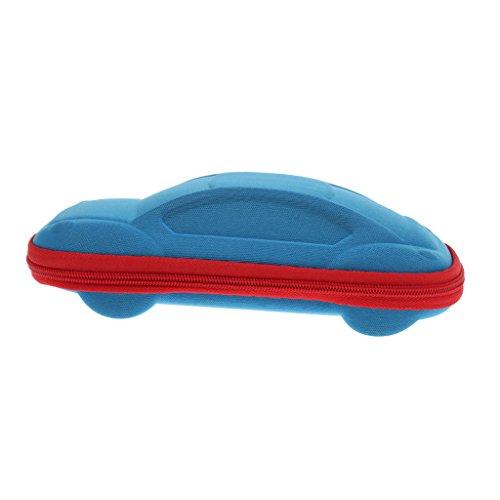 Brillenetui Auto Form Design Brillen Brillengläser Fall Kasten Reißverschluss Abdeckung (Blau)