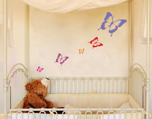 sticker-mural-papillon-lot-de-5-autocollants-bleu-roi-1x-20cm-2x-20cm-2x-5cm