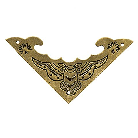 Wooden Box Copper Corner Angle Code Chinese Antique Jewelry Box Paste Classic Bronze Metal Parts Package Angle side length 4cm / 1.57