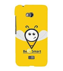 Fabcase Bee Smart Funny Design Designer Back Case Cover for Micromax Bolt Q336