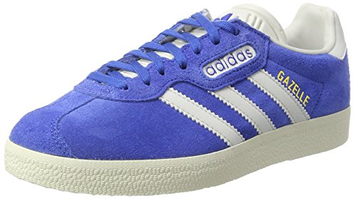 adidas Gazelle Super, Baskets Basses Mixte Adulte Bleu (Blue/Vintage White/Gold Metallic)