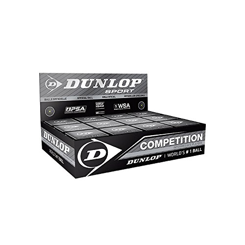 "12x Dunlop Squash Balls ""Competition"" yellow"