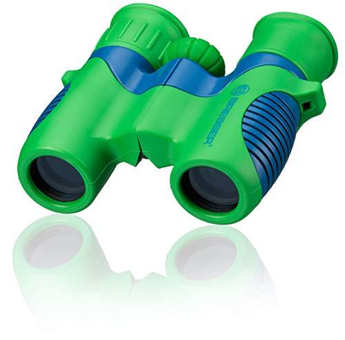 Bresser junior Kinderfernglas 6x21 für Kinder mit Mitteltriebfokussierung, Dioptrienausgleich und robustem gummiarmiertem Fernglaskorpus inklusive Gürteltasche und Trageschlaufe -