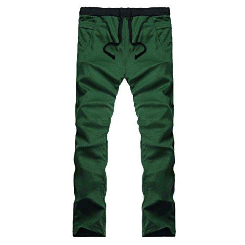 TIFIY Herren Hose Baggy Jogginghose Männer Trainingsanzug Laufsporthose Hose in Übergröße Elastische Trainingshose Cargohose (Grün,L)