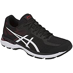 ASICS Gel-Glyde 2 Hommes Running Trainers 1011A028 Sneakers Chaussures (UK 11.5 US 12.5 EU 47, Black Classic Red 001)