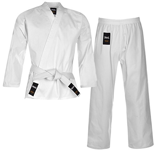 Lonsdale Herren Karate Anzug Uniform Kimono Weiss 160