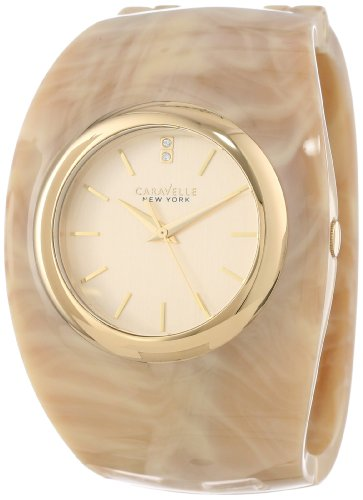 Caravelle by Bulova New York 44L135 Resin Case Resin Mineral Women's Watch