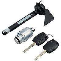 Justech Kit de Reparación Ensamblado de la Cerradura del Capó del Pestillo +2 llaves para