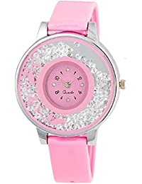 SPINOZA KNK-143L73 Beautiful Flower Desing On Glass Atractive And Fancy Watch For Girls
