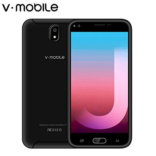 V MOBILE J5 Smartphone Pas Cher 4G Unlocked Smartphone 5,5 Pouces HD IPS Téléphone Portable Débloqué (Android 7,0 8 Go ROM 2,0+5,0MP Caméra 2800mAh Batterie Dual SIM) WIFI Sans Fil GPS Étanche Tactile No