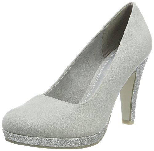 Marco Tozzi 22441, Zapatos Tacón Mujer, Gris Grey