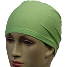 Verde Claro gorro de natación para pelo Hijab diseño de letra: tipo libro con función