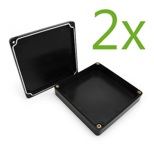 Incutex 2X wasserdichte Aufbewahrungsbox aus Kunststoff Schatulle für GPS Tracker TK104, TK5000, TK105, TK116 (Gps-tracker Tk104)