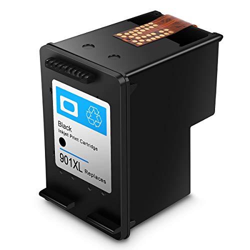 Cartucho de Tinta regenerado HP 901,HP 901 XL Cartuchos de Tinta de Alto Rendimiento para HP DeskJet, HP OfficeJet y HP Envy (1 Negro)