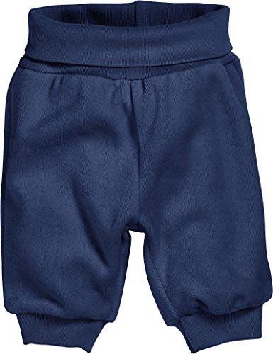 Schnizler Unisex Baby Hose Jogginghose, Pumphose, Babyhose Nicki mit Elastischem Bauchumschlag, Oeko-Tex Standard 100, Blau (Marine 11), 56