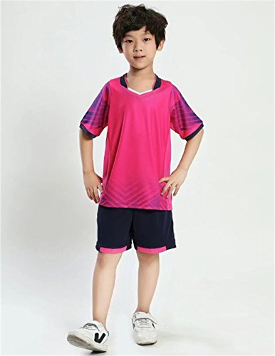 World CupChildren Kinder Fußball Trikots Set Survêtement Fußball Kit Futbol Jugend Boy Sports Train Trainingsanzug Uniformen Anzug Maillot De Foot, K15023 Pink, Kinder Größe 28 (Kostüme Diy 2017)