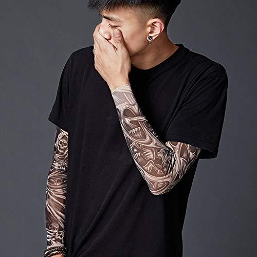 Mutter beste Geschenke für Männer !!! Beisoug Tattoo Sleeve Sun UV-Schutz Stretch Armschutz Radfahren Fahren Kostüm Sonnencreme Handschuhe (48 x 12 x 8 ()