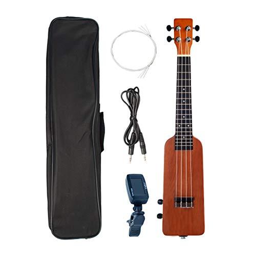 Shiwaki Kit di Ukulele Elettrico da Concerto da 23 '' Strumenti Musicali per Musica per Principianti Bambini Adulti - di Legno