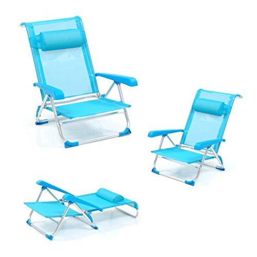 Spiaggina pieghevole tahiti con braccioli struttura alluminio tubolare 22 mm blu