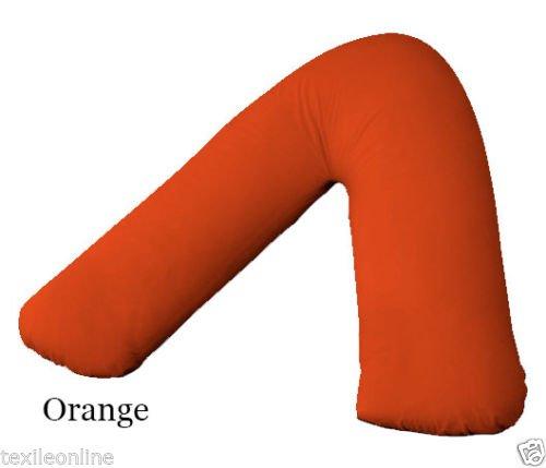 Textile Online Polycoton Dos et Cou Support orthopédique en Forme de V Taie d'oreiller d'allaitement Orange