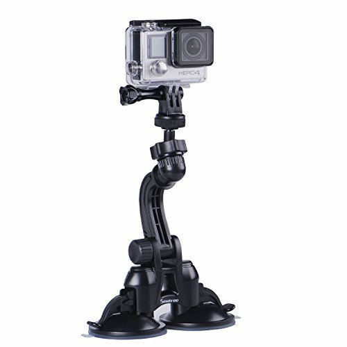 Smatree Doppel Saugnapfhalterung mit größerer Saugleistung für GoPro Hero 6/5/4/3+/3/2/1/ Hero Session /für Kompaktkameras