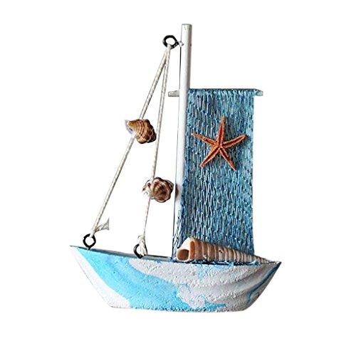 F Fityle Maritime Dekoration Segelboot Schiff Segelschiff Kleines Boot, aus Holz - Segelboot 7 (Bausatz Holz-piratenschiff)