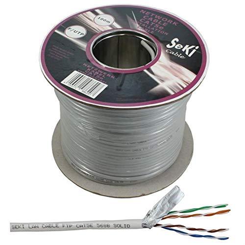 Netzwerkkabel CAT.5e 50m ; F/UTP ; CAT5e LAN Ethernet Kabel CAT5 Patchkabel (Verlegekabel 100m, CAT5e)