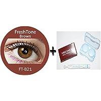 efda776095fcf Lente de contacto de color Brown 3tons + Avizor Solution multifunción para  lente 10 ml + Kit de almacenaje color.