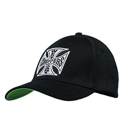 WEST COAST CHOPPERS Unisex Snapback Cap OG Cross Round Bill, Farbe:Black, Größe:one Size