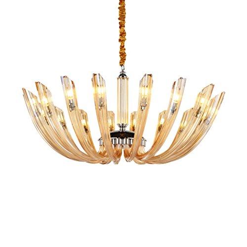 #Kronleuchter LED-Farbleuchter, zeitgenössischer Glaslampenschirm-Entwurfs-Leuchter-hängender Kristallleuchter passend für Schlafzimmer, Halle, Wohnzimmer (Color : C-6 heads)