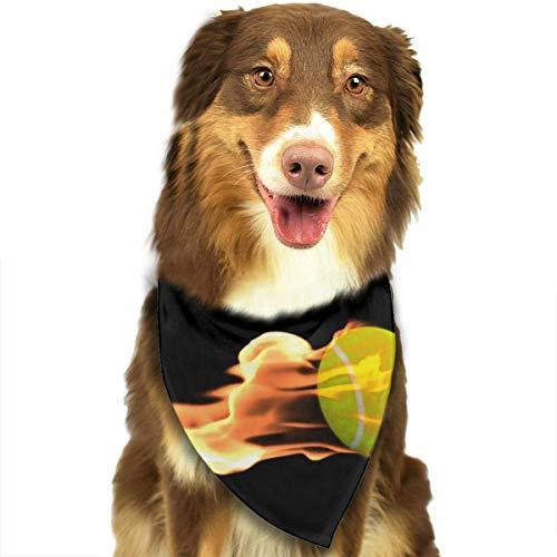 Osmykqe Bavaglino per Cani Bandana Pet Tennis Fire Classic Carino Pet Puppy Dog Bandana Sciarpa Bavaglini