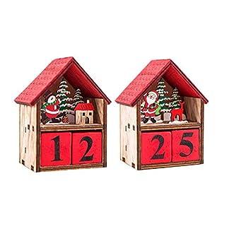 miraculocy Calendario De Cabina Iluminado De Navidad Muñeco De Nieve Papá Noel Mesa Colgante Decoración De Madera para Supermercados Centros Comerciales