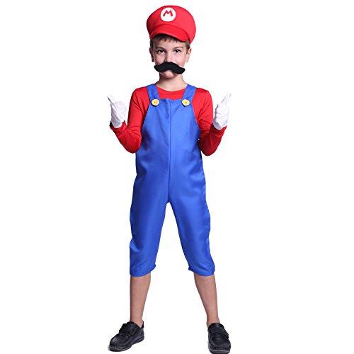 Imagen de cle de tous  disfraz de mario bros para niño cosplay dress fiesta carnaval halloween talla s 90 100cm talla m 110 120cm  s 90 100cm