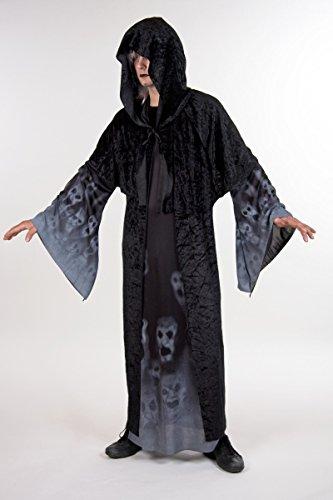 Vergessene Seelen Kapuzen Gewand Herren Kostüm zu Halloween Dämon (Vergessene Seelen Kostüme)