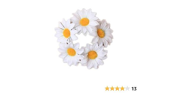 Daisy Flower Hair Bun Garland Headband Floral Hair Band Crown Scrunchie Ponio cm