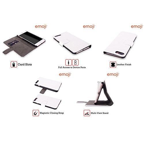 Offizielle Emoji Phase Pastell Einhörner Brieftasche Handyhülle aus Leder für Apple iPhone 5 / 5s / SE Phase